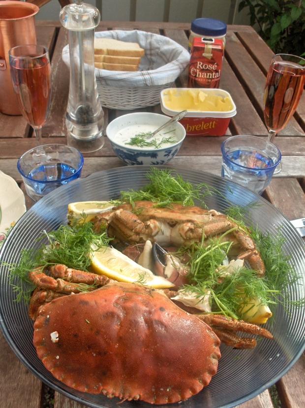 Krabber i hagen