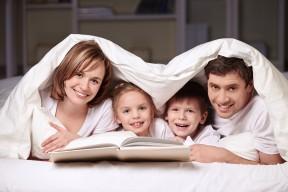 lykkelig familie