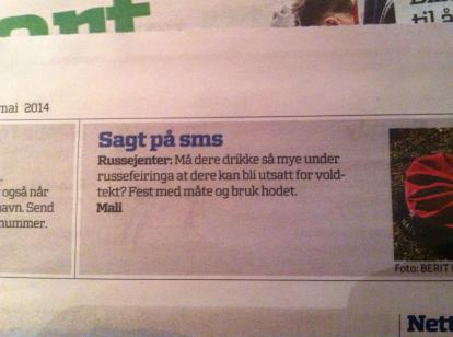 10. sms russejenter